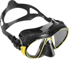 Crystal silicone skirt diving mask