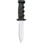 Mid size dive knife with comfortable handle