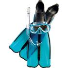 Full snorkeling set including Rondinella fins, Onda mask and Gringo snorkel