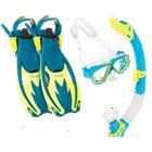 Full snorkeling set including Sailfish fins, mask and snorkel