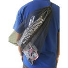 Mesh bag for your snorkeling gear with shoulder string