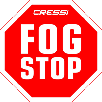 Cressi Fog Stop design of nose pocket