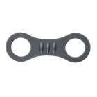 Black silicone snorkel keeper