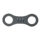 Black silicone snorkel keeper
