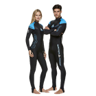 Full lycra suit or skin for protection against sunburn and aquatic stingers