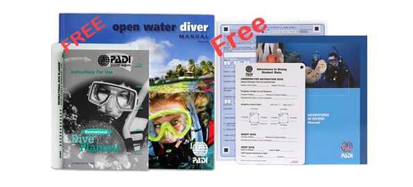 Padi Ow And Aow Cert Pak With Free Shipping