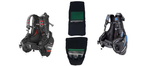 Free Weight Pouch With Aquaride And Travelight Bcd's